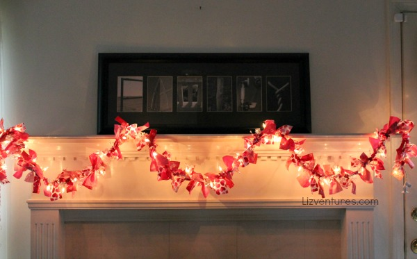 Valentine's Day light up garland