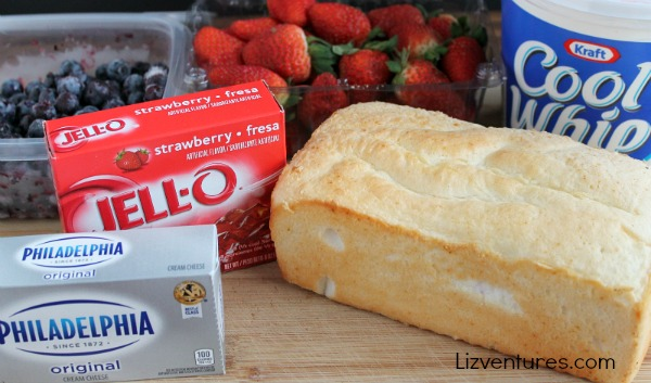 ingredients for strawberry shortcake trifle fluff