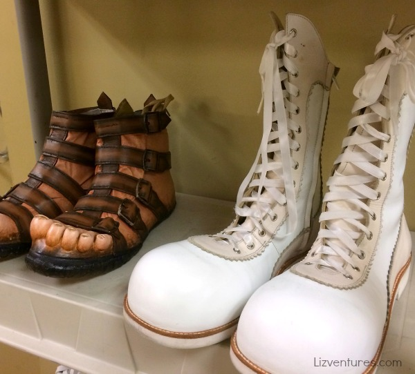 Cirque du Soleil Zarkana costume department shoes