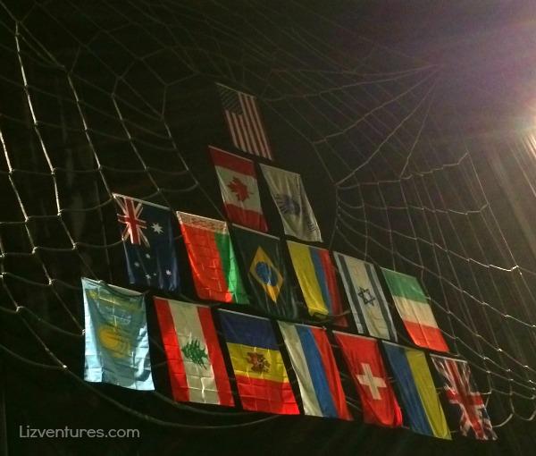 international flags of cirque du soleil performers - Zarkana