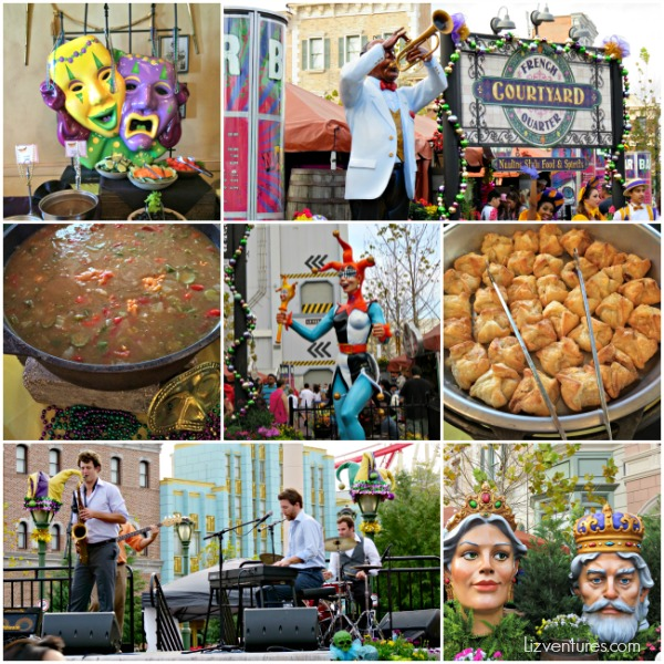 French Quarter Courtyard Mardi Gras Universal Studios Orlando