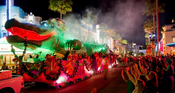 King Gator Float, Mardi Gras at UOR