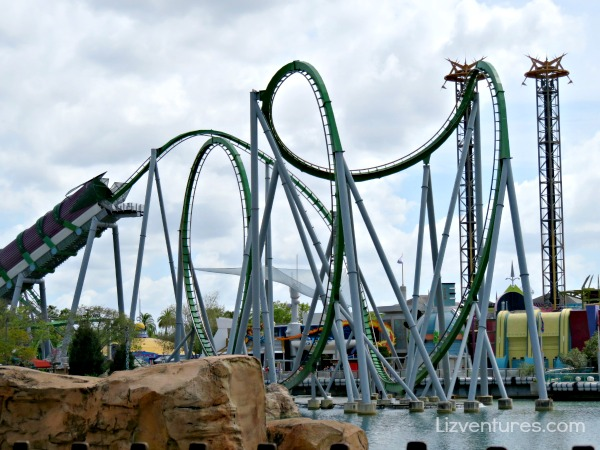 The Incredible Hulk Coaster - Islands of Adventure Universal Florida