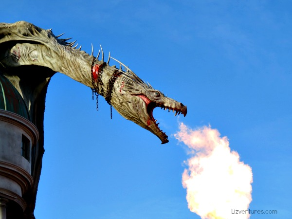 fire-breathing dragon in Diagon Alley