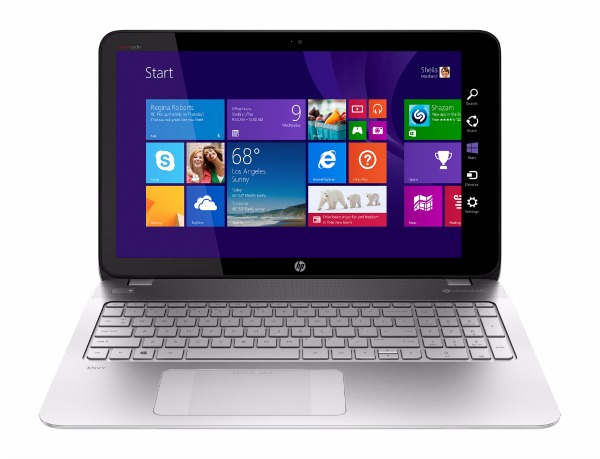 AMD FX APU – HP Envy Touchsmart Laptop front view