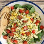 Garden Fresh Pasta Salad with Cilantro Lime Drizzle