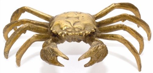 Laurier Blanc brass crab