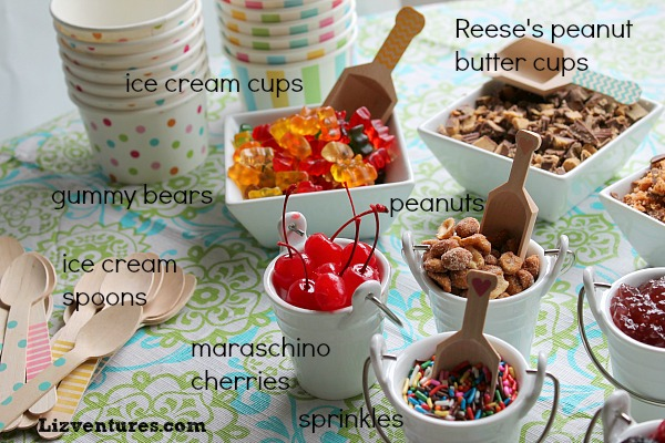 Summer Fun Set Up An Ice Cream Sundae Bar