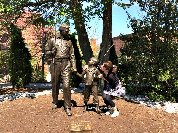 Andy Griffith Show sculpture - Mayberry North Carolina