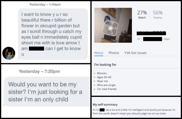 Online dating tips mistakes collage