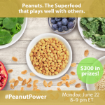 Join the Cooking with Superfoods #PeanutPower Twitter Party + Giveaway