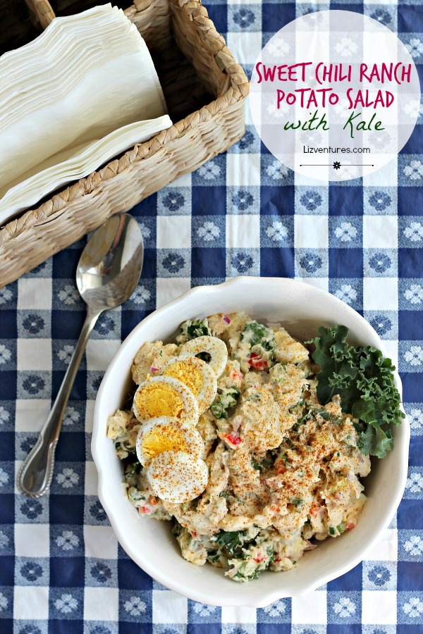 Sweet Chili Ranch Potato Salad with Kale