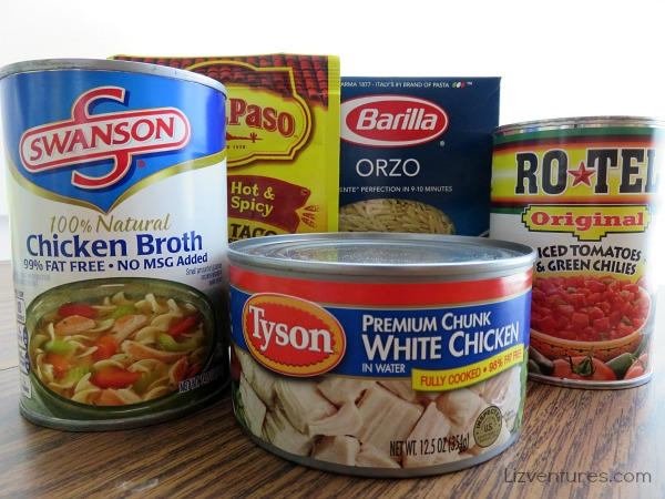 ingredients for chicken taco casserole with orzo