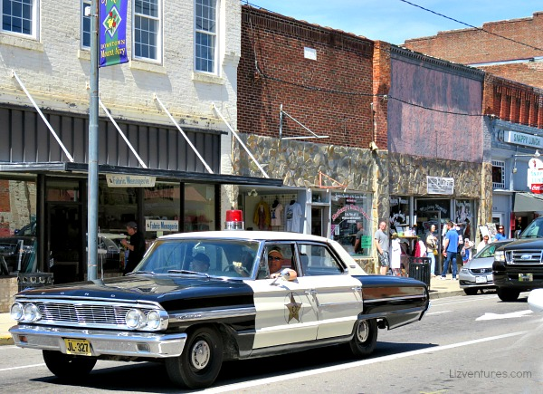 squad car tours - downtown Mount Airy NC