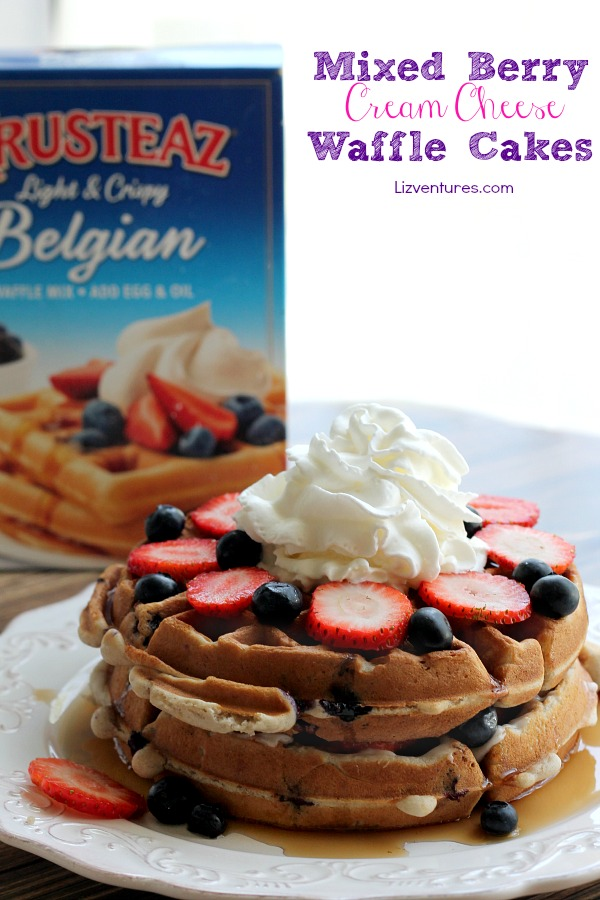 Mixed Berry Cream Cheese Waffles