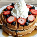 Mixed Berry Cream Cheese Waffle Cakes