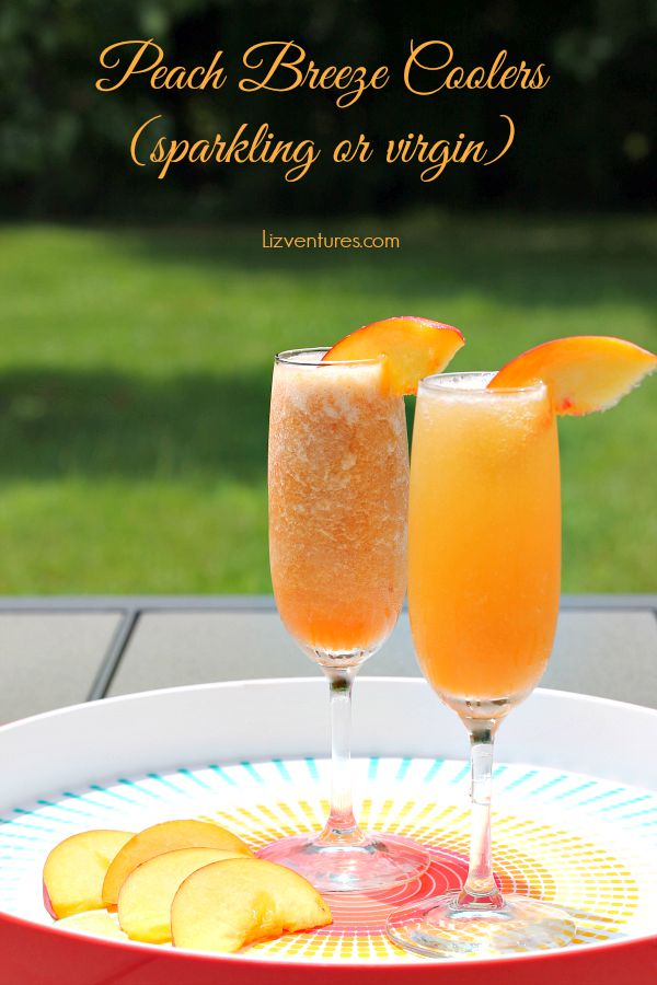 Peach Breeze Coolers - sparkling cocktail or virgin cocktail