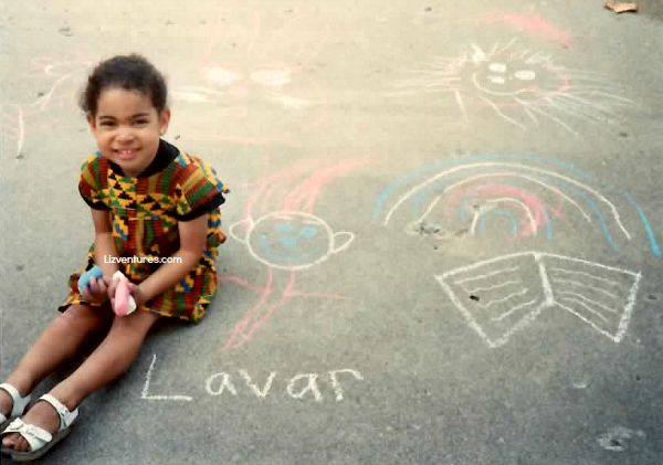 Reading Rainbow chalk art