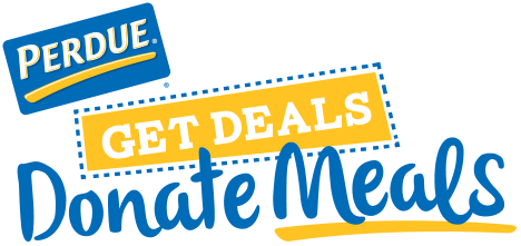 Perdue Get Deals Donate Meals logo