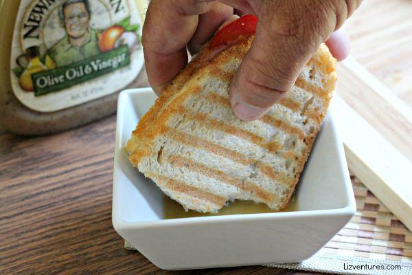 caprese sandwich dip