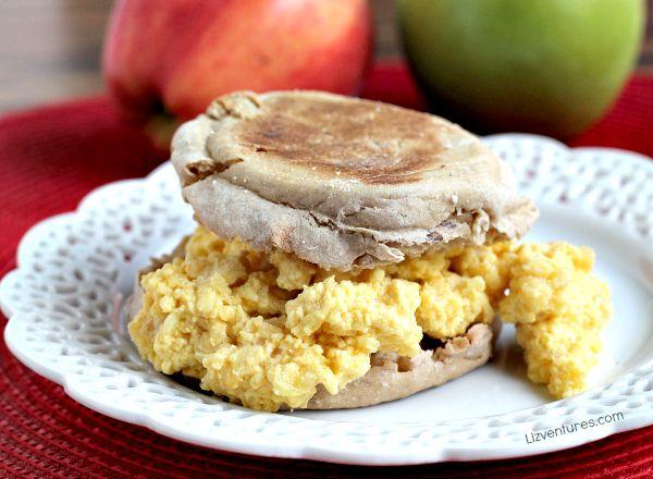Apple Scramble English Muffin