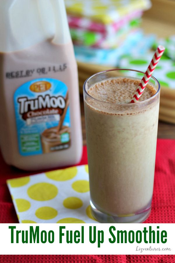 Fuel Up Smoothie with Kale - TruMoo - National Chocolate Milk Day