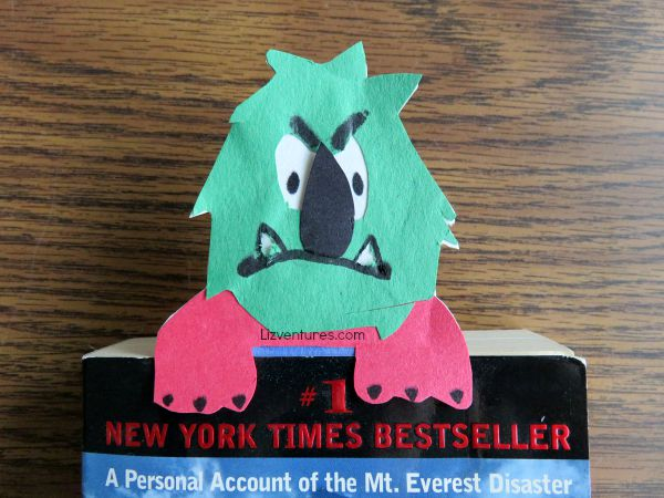 Monster Bookmark for Goosebumps Movie - crafts