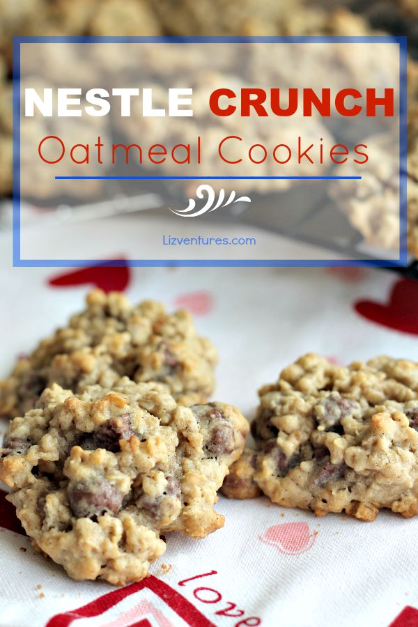 Nestle Crunch Oatmeal Cookies_recipe