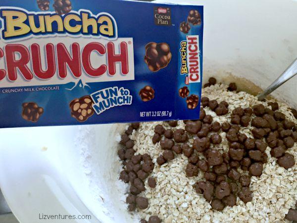 Nestle Crunch cookies - Nestle Buncha Crunch cookies