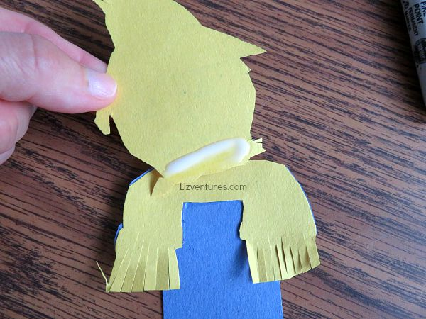 glue monster bookmarks together - Goosebumps movie crafts