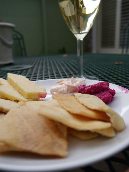 Carmel Garden Inn wine and cheese