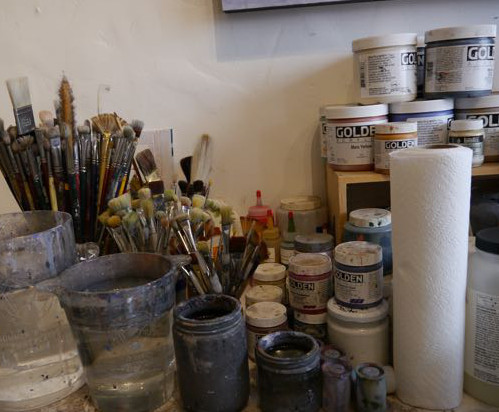 An artist's tools of the trade