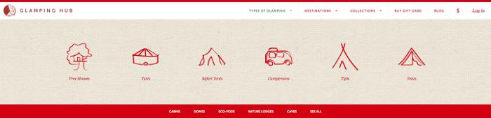 GlampingHub options