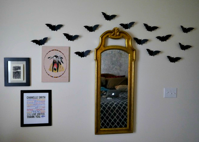 Halloween bat flock finished