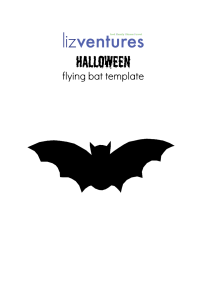 Lizventures Flying Bat Template