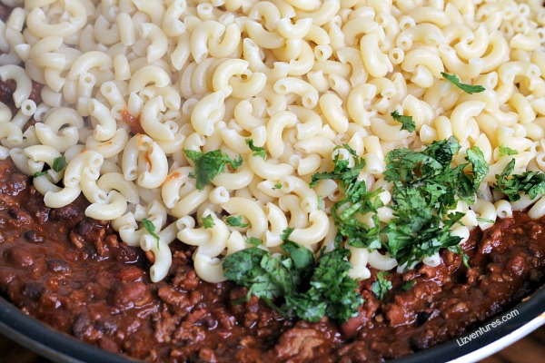 pasta skillet recipe - chili mac