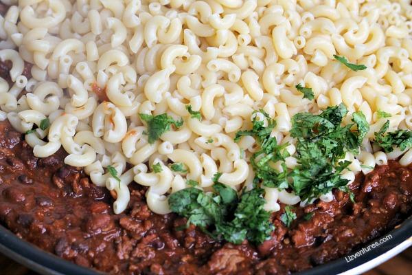 pasta skillet recipe - chili mac