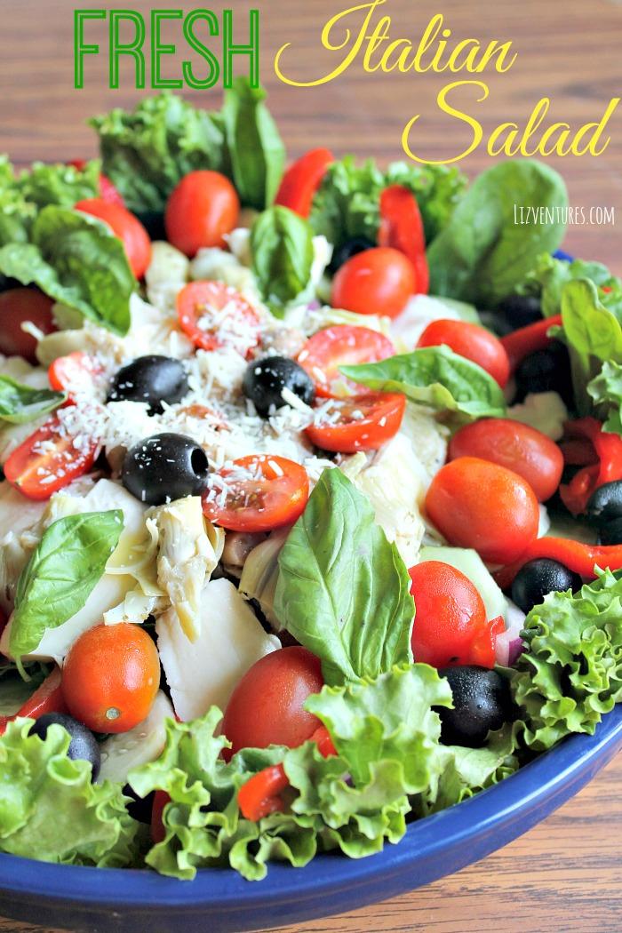 Fresh italian salad recipe lizventures fresh italian salad recipe forumfinder Image collections