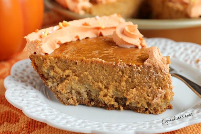 Pumpkin Pie with Brown Sugar Oatmeal Cookie Crust recipe