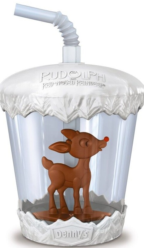 Rudolph kids cup at Denny's