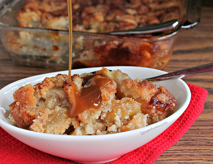 Snickerdoodle Cobbler with Caramel Topping