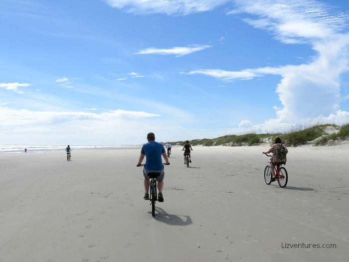 bike riding on Sunset Beach - Bird Island NC
