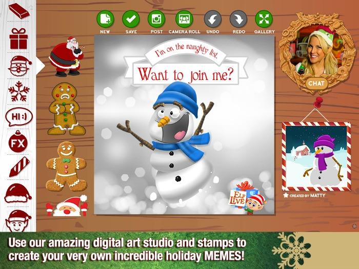 Christmas MEME - ElfLive app