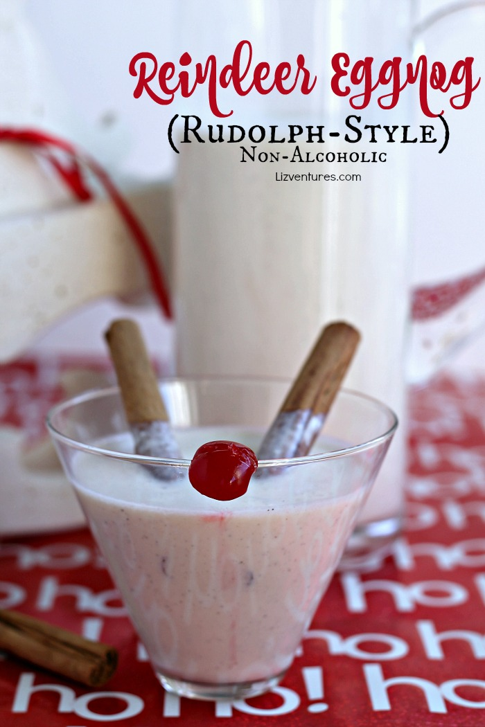 Reindeer Eggnog - Rudolph-style (non-alcoholic)