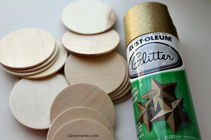 spray paint wooden discs
