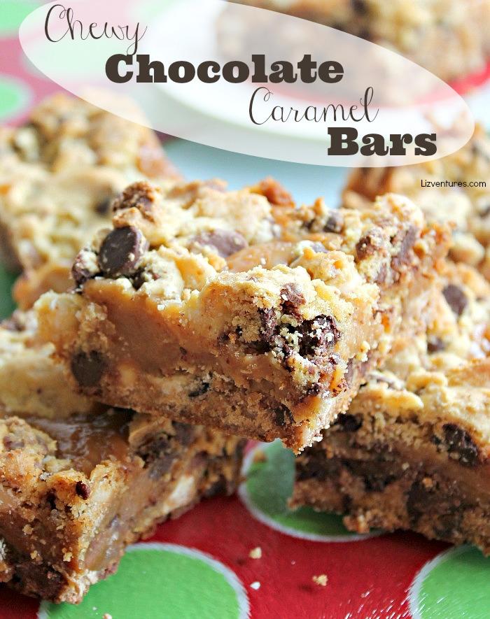 Chewy Chocolate Caramel Bars