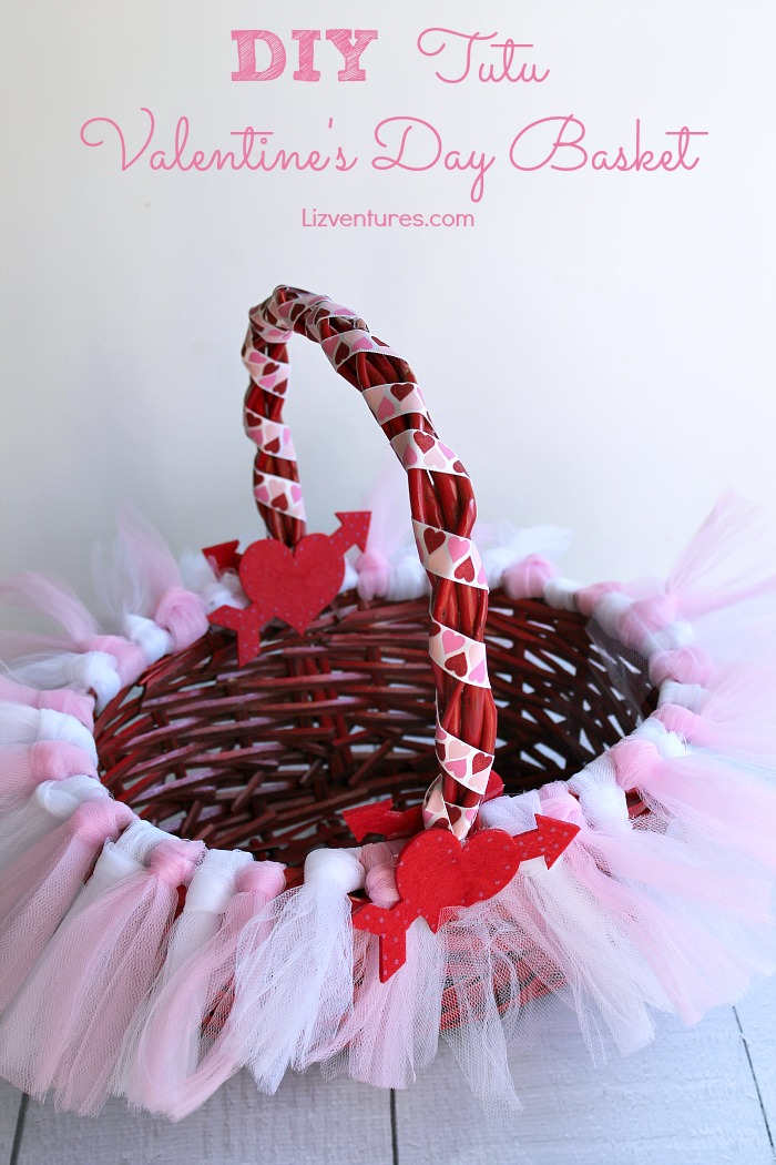 DIY Tutu Valentine's Day Basket