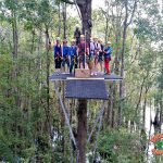 Ziplining at Shallotte River Swamp Park