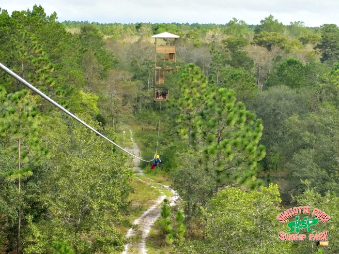 ziplining - Shallotte River Swamp Park - Brunswick Islands