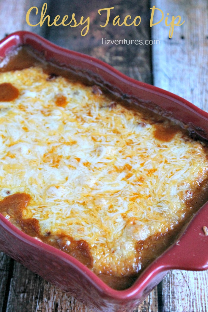 Cheesy-Taco-Dip in baking dish